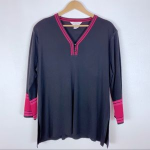 Exclusively Misook Vintage Knit Plus Size Tunic 2X